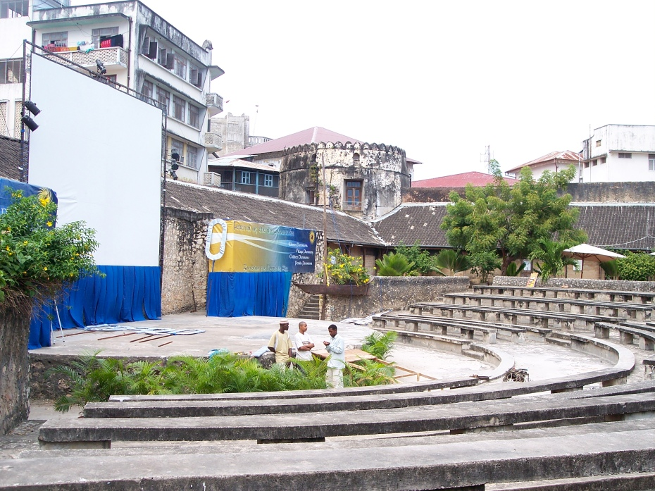 Old Fort Amphitheater, where the feature-length movies are screened.