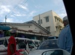 Afternoon traffic jam in Dar. A motorist is angry at a blocking driver.