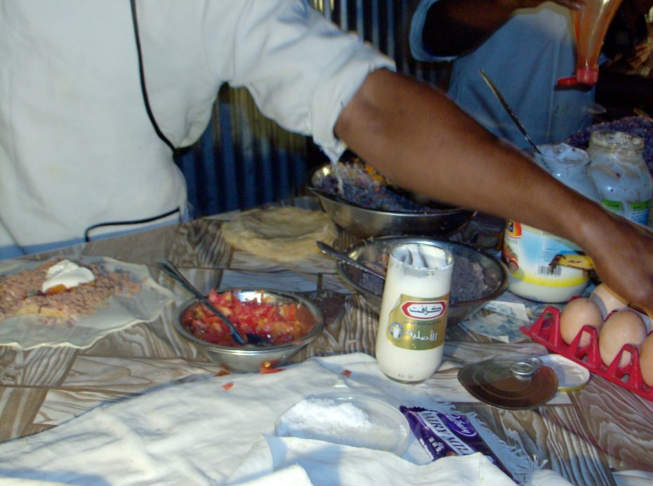 Zanzibari pizza being prepared